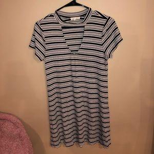 Striped Choker Dress